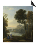 Landscape with Hagar and the Angel, 1646 Posters by Claude Lorrain