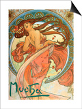 Dance (From the Series the Art), 1898 Prints by Alphonse Mucha