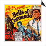 Bells of Coronado, Left and Right: Roy Rogers; Center: Dale Evans, 1950 Poster