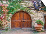 Italy, Tuscany, Chianti Region. This Is the Castello D'Albola Estate Plakater af Julie Eggers