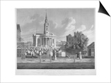 View of St Paul's Church, Deptford, London, 1822 Prints by Matthew Dubourg
