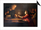 Childhood of Christ, C1620 Poster by Gerrit van Honthorst