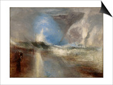 Rockets and Blue Lights (Close at Han) to Warn Steam-Boats of Shoal-Water Posters by Joseph Mallord William Turner