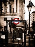 The London Underground Sign - Public Subway - UK - England - United Kingdom - Europe Prints by Philippe Hugonnard