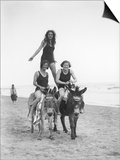 Girls on Donkeys 1920S Posters
