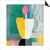 Torso (Figure with Pink Fac), 1928-1932 Plakat af Kazimir Malevich