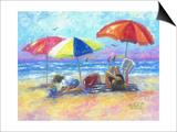 At the Beach I Posters by Vickie Wade