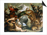 Tiger, Lion and Leopard Hunt, 1616 Prints by Peter Paul Rubens