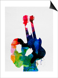 Jimmy Watercolor Posters af Lora Feldman