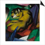 The Tiger Poster by Franz Marc