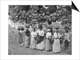 Banana Carriers, Jamaica, C1905 Prints by Adolphe & Son Duperly