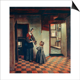 Woman with a Child in a Pantry, C1660 Art by Pieter de Hooch