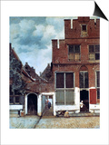 The Little Street, C1658 Prints by Jan Vermeer