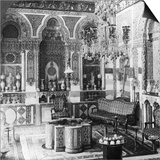 The Reception Room of a Pasha, Damascus, Syria, 1905 Prints by  Underwood & Underwood