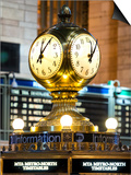 Grand Central Terminal's Four-Sided Seth Thomas Clock - Manhattan - New York Posters by Philippe Hugonnard