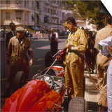 A Ferrari Team Member Filling a Car with Fuel, Monaco Grand Prix, Monte Carlo, 1963 Print