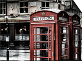 Red Telephone Booths - London - UK - England - United Kingdom - Europe - Vintage Photography Prints by Philippe Hugonnard