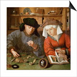 The Moneylender and His Wife Print by Quentin Massys