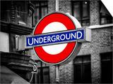 The Underground - Subway Station Sign - London - UK - England - United Kingdom - Europe Art by Philippe Hugonnard