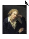Portrait of Friedrich Von Schiller Poster af Anton Graff