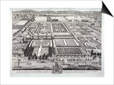 Aerial View of the Seat of the Dukes of Beaufort, Chelsea, London, C1720 Prints by Johannes Kip