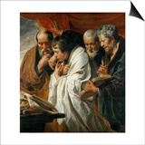 The Four Evangelists Posters by Jacob Jordaens