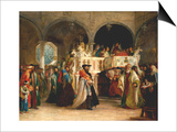 The Feast of the Rejoicing of the Torah at the Synagogue in Leghorn, Italy, 1850 Art by Solomon Alexander Hart
