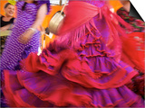 Flamenco Dancers, Feria Del Caballo in Jerez De La Frontera, Andalusia, Spain Prints by Katja Kreder