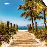 Boardwalk on the Beach - Key West - Florida Prints by Philippe Hugonnard