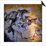 Painting in the Chauvet Cave, 32,000-30,000 Bc Posters