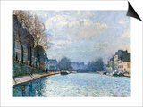 View of the Canal Saint-Martin, Paris, 1870 Prints by Alfred Sisley