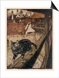 Gato y ratón Pósters por Arthur Rackham