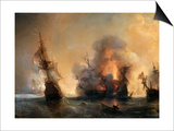 The Naval Battle of Lagos on 27 June 1693 Posters by Theodore Gudin