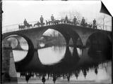 Greyhounds on a Bridge Prints