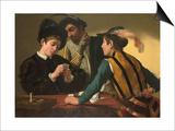 Caravaggio - The Cardsharps - Poster