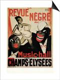 Schwarze Revue Kunstdrucke von Paul Colin