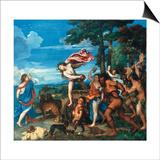 Bacchus and Ariadne, 1523-1525 Plakaty autor Titian (Tiziano Vecelli)