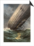 'Akron' Crashes 1933 Affischer av Achille Beltrame