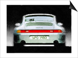 1993 Porsche 911 Rear Watercolor Art by  NaxArt