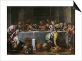 The Last Supper Posters by Agostino Carracci