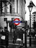 The London Underground Sign - Public Subway - UK - England - United Kingdom - Europe Poster by Philippe Hugonnard