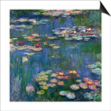 Water Lilies, 1916 Prints by Claude Monet