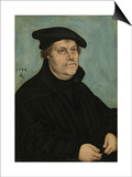 Martin Luther (1483-154) at the Age of 50, 1533 Plakater af Lucas Cranach the Elder