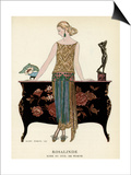 Elegant Woman in Visiting Dress 1922 Prints by Georges Barbier
