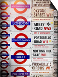 Antique Enamelled Signs - Subway Station Signs - Wall Signs - Notting Hill - London - UK - England Posters by Philippe Hugonnard