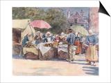 Street Market, Brittany Prints by Mortimer Menpes