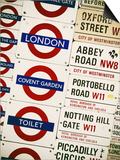 Antique Enamelled Signs - Subway Station and W11 Railroad Wall Plaque Signs - London - UK Prints by Philippe Hugonnard