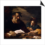 Homer Dictating His Poems, 17th Century Posters af Pier Francesco Mola