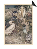 Alice and the Dodo Prints by Arthur Rackham