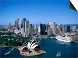 Australia Aerial of Sydney Opera House and Cruise Posters